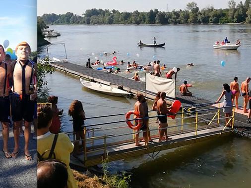 """Saggio natatorio di Ferragosto: le Canottieri di Casalmaggiore """"si riprendono"""" il fiume Po"""
