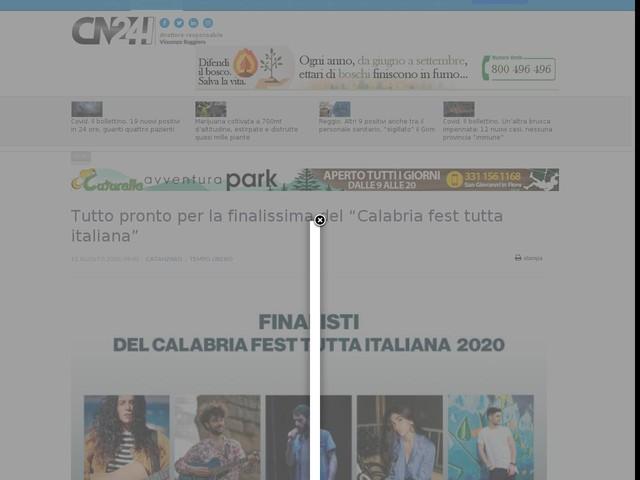 """Tutto pronto per la finalissima del """"Calabria fest tutta italiana"""""""