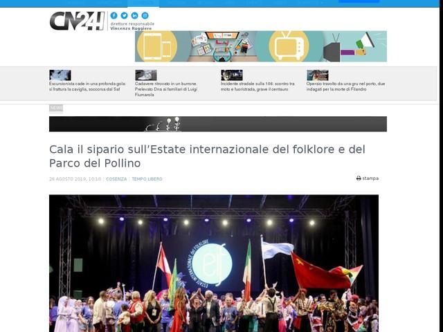 Cala il sipario sull'Estate internazionale del folklore e del Parco del Pollino