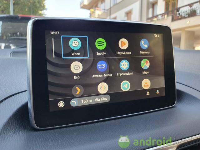 L'app per Android Auto per avviare la navigazione verso i contatti in rubrica