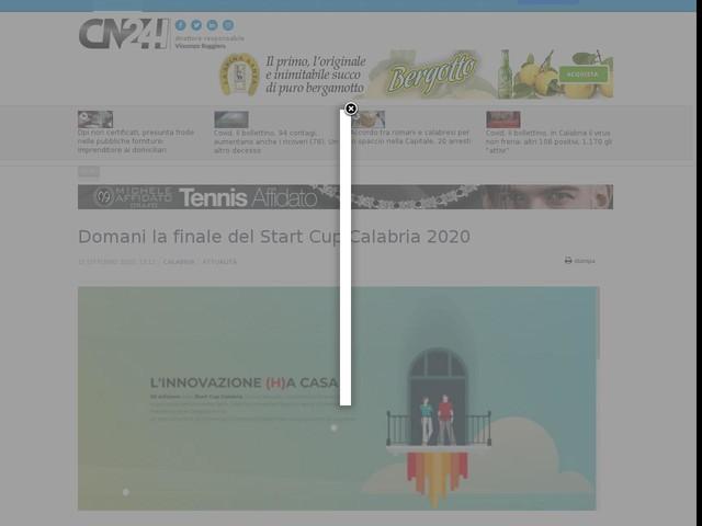 Domani la finale del Start Cup Calabria 2020