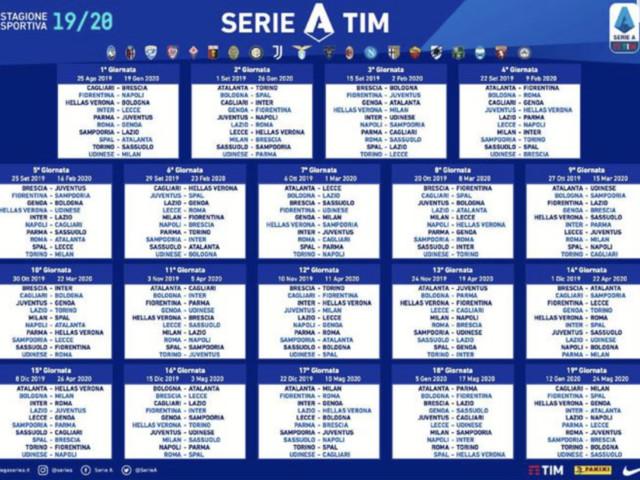 Serie A, ecco il calendario si parte il 24 agosto alla seconda il derby romano