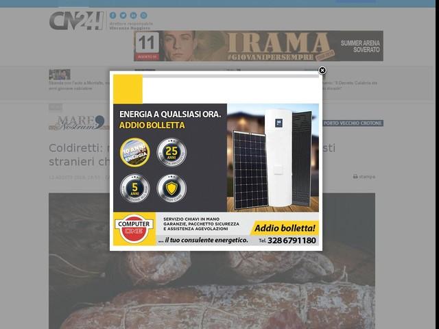 """Coldiretti: negli agriturismi aumento del 5%. I turisti stranieri chiedono le """"cattedre del cibo"""""""