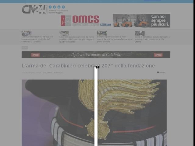 L'arma dei Carabinieri celebra il 207° della fondazione