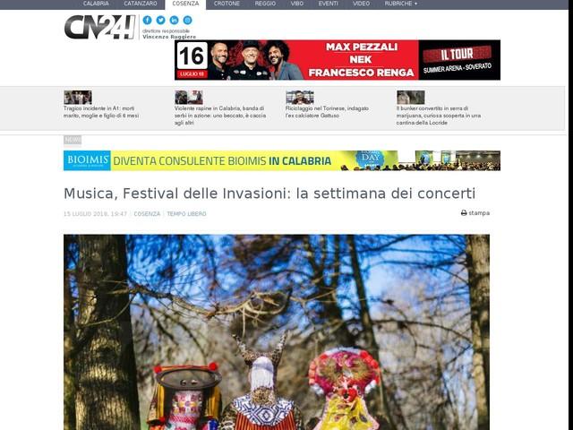 Musica, Festival delle Invasioni: la settimana dei concerti