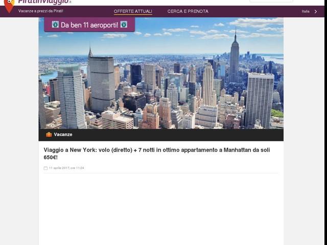 Viaggio a New York: volo (diretto) + 7 notti in ottimo appartamento a Manhattan da soli 650€!