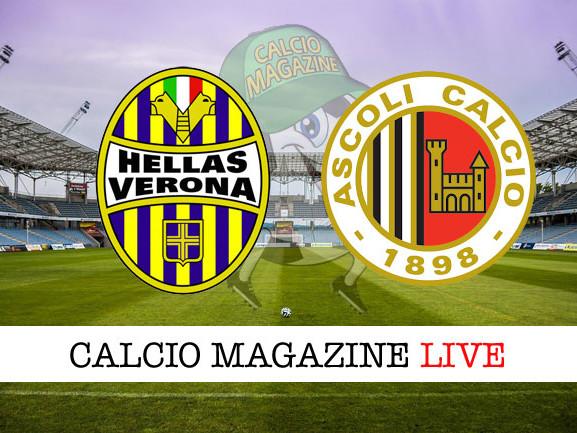 Hellas Verona – Ascoli: cronaca diretta live, risultato in tempo reale