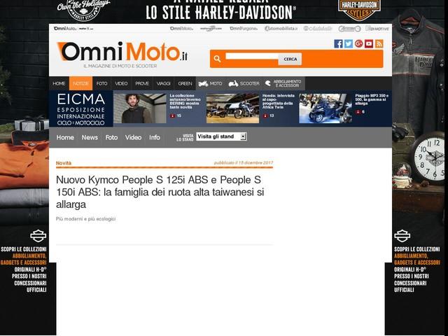 Nuovo Kymco People S 125i ABS e People S 150i ABS: la famiglia dei ruota alta taiwanesi si allarga