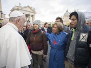 Visita del Pontefice al presidio sanitario per i poveri - L'ambulatorio da campo in piazza San Pietro