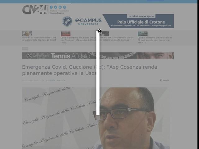 """Emergenza Covid, Guccione (Pd): """"Asp Cosenza renda pienamente operative le Usca"""""""