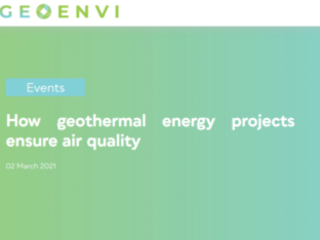 Geoenvi, un webinar per capire come i progetti geotermici possono garantire la qualità dell'aria