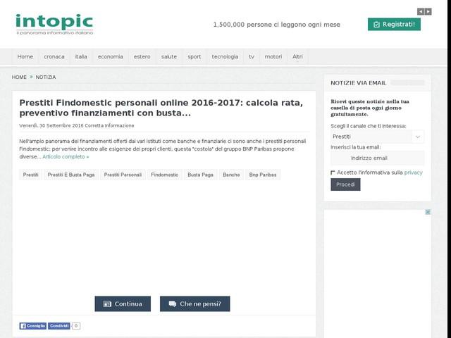 Prestiti Findomestic personali online 2016-2017: calcola rata, preventivo finanziamenti con ...