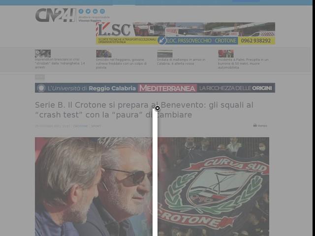 """Serie B. Il Crotone si prepara al Benevento: gli squali al """"crash test"""" con la """"paura"""" di cambiare"""