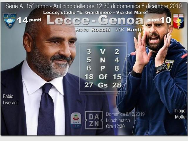 Serie A: Lecce Genoa, le probabili formazioni