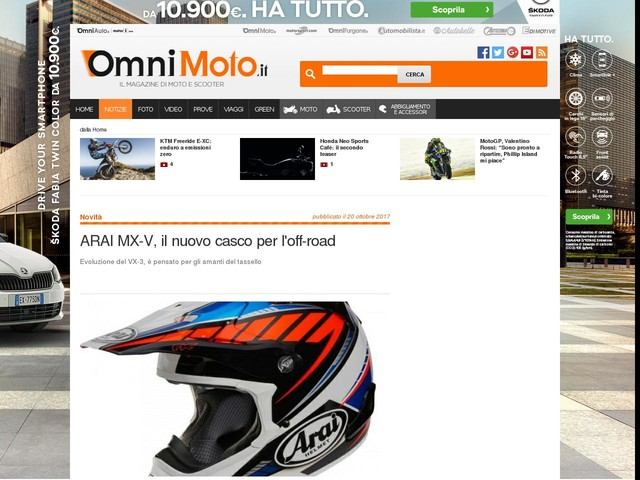 ARAI MX-V, il nuovo casco per l'off-road