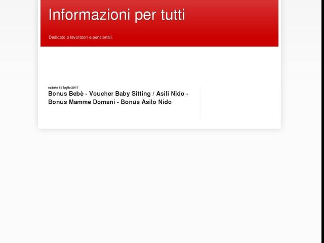 Bonus Bebè - Voucher Baby Sitting / Asili Nido - Bonus Mamme Domani - Bonus Asilo Nido