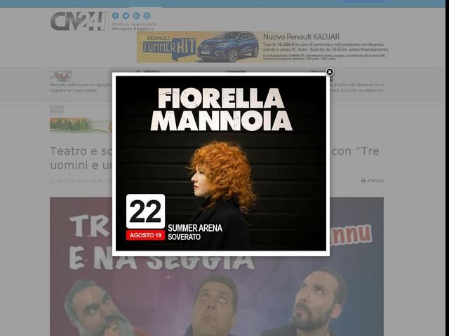 """Teatro e solidarietà al Festival Euromediterraneo con """"Tre uomini e una seggia"""""""