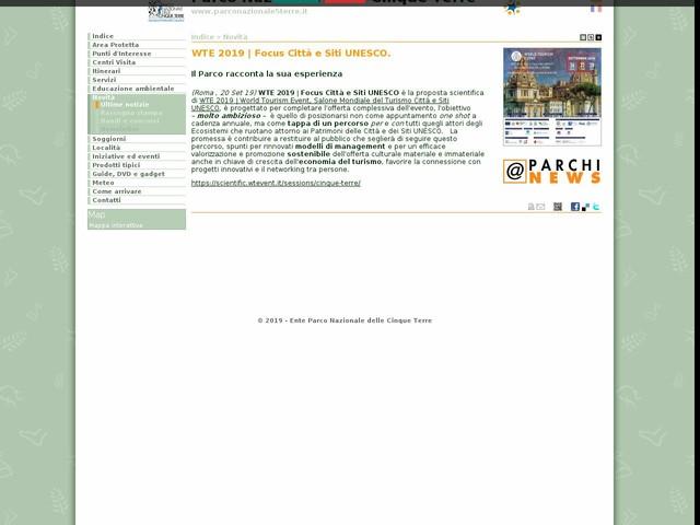 PN Cinque Terre - WTE 2019 | Focus Città e Siti UNESCO.