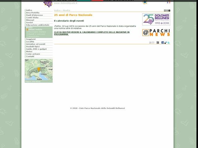 PN Dolomiti Bellunesi - 25 anni di Parco Nazionale