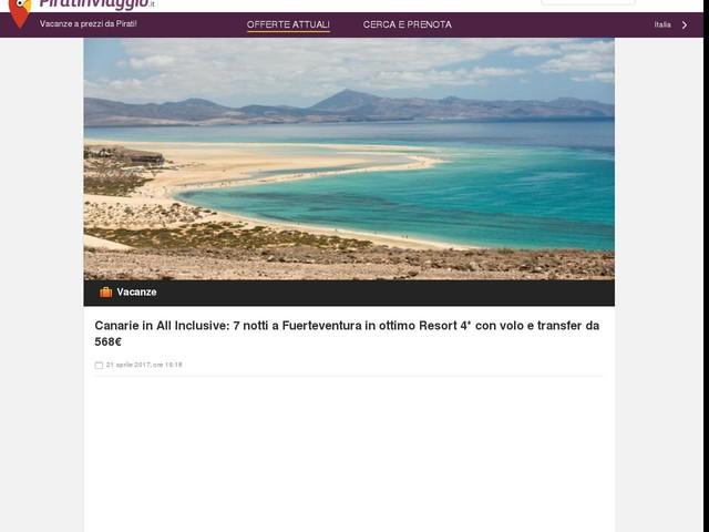 Canarie in All Inclusive: 7 notti a Fuerteventura in ottimo Resort 4* con volo e transfer da 568€