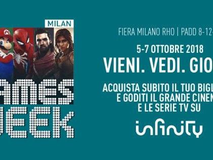 Con Milan Games Week hai in regalo un mese di cinema e serie tv su Infinity