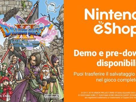 Dragon Quest 11 S per Switch: demo e pre-load disponibili, svelata la dimensione del gioco
