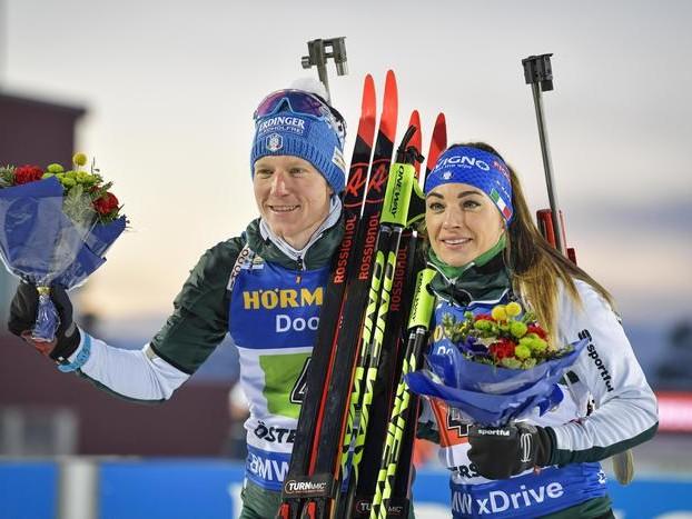 Biathlon azzurro d'argento in Svezia due medaglie con Wierer e Hofer
