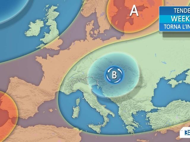 Meteo Weekend Italia: domenica acquazzoni, sabato più stabile