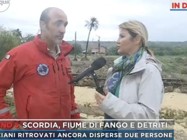 """Maltempo in Sicilia, il capo dei sommozzatori a Scordia: """"Situazione drammatica"""""""