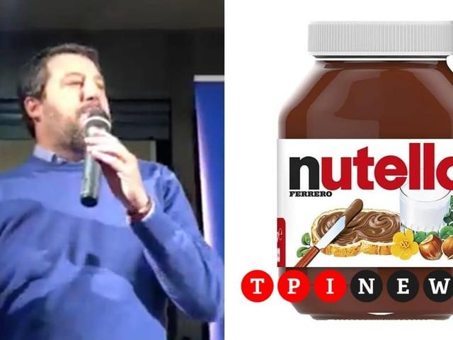 """Matteo Salvini attacca la Nutella: """"Usa nocciole turche, preferisco mangiare italiano"""""""
