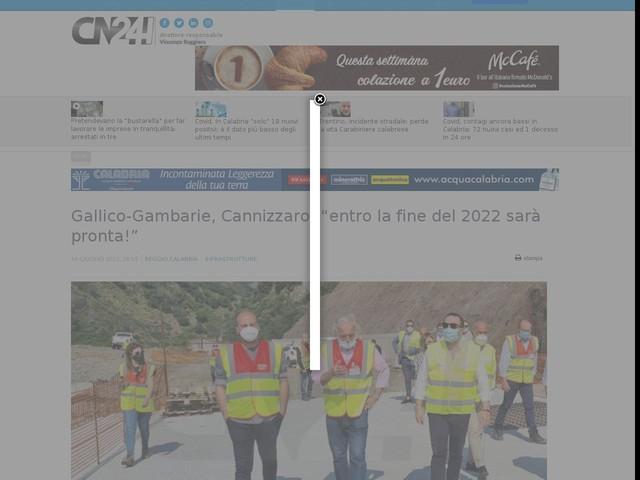 """Gallico-Gambarie, Cannizzaro: """"entro la fine del 2022 sarà pronta!"""""""
