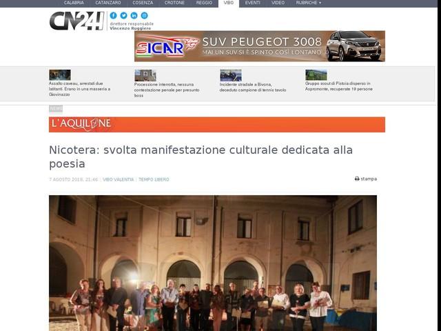 Nicotera  svolta manifestazione culturale dedicata alla poesia d26eb66b10