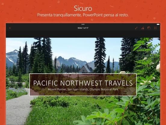 Microsoft PowerPoint gratis per iPad, iPhone e iPod Touch vers 2.6