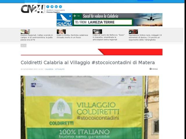Coldiretti Calabria al Villaggio #stocoicontadini di Matera
