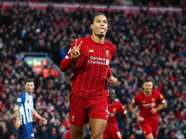 Premier League, doppietta di van Dijk il Liverpool batte il Brighton e va in fuga