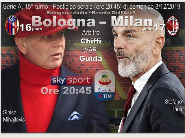 Serie A: Bologna Milan, probabili formazioni