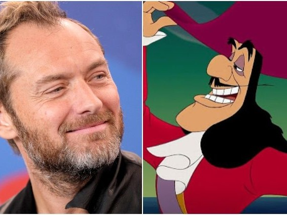 Jude Law perfetto Capitan Uncino, le prime foto dal set di Peter Pan & Wendy