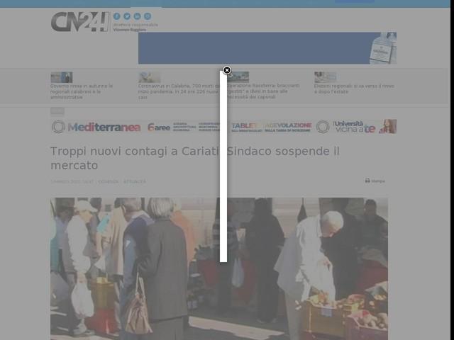 Troppi nuovi contagi a Cariati: Sindaco sospende il mercato