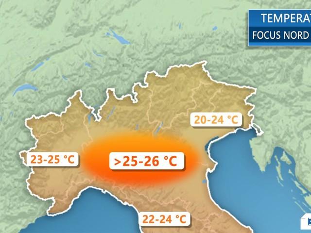 Meteo Italia. Temperature da Maggio fino a lunedì. Poi temperature in calo