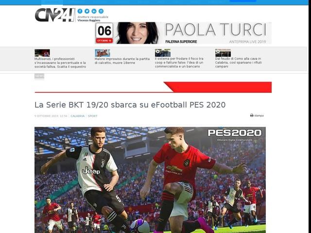La Serie BKT 19/20 sbarca su eFootball PES 2020