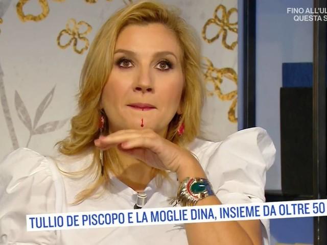 """""""Scusate..."""". Il sangue. poi Serena Bortone lascia lo studio"""