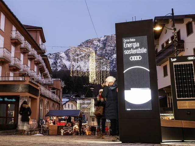 Audi e-tron, auto ufficiale di Cortina d'Ampezzo
