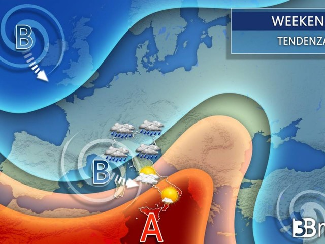 Meteo - Venerdì PIOGGE al Nord, nel WEEKEND anche al Centro Sud, DETTAGLI