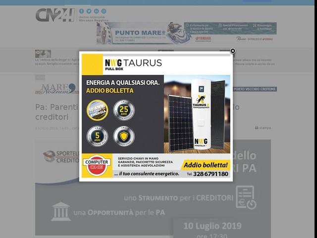 Pa: Parenti è il primo Comune ad aprire lo Sportello creditori