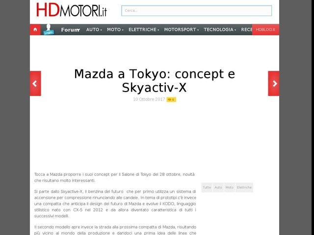 Mazda a Tokyo: concept e Skyactiv-X