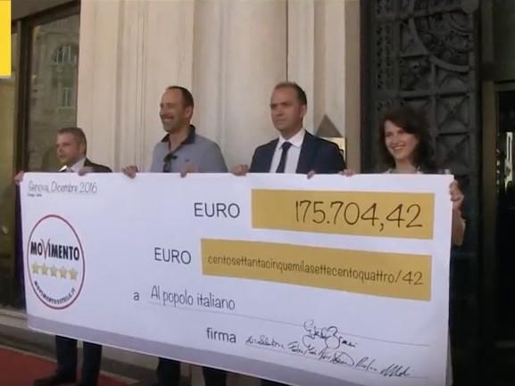 Il MoVimento 5 Stelle Liguria restituisce ai cittadini 244mila euro