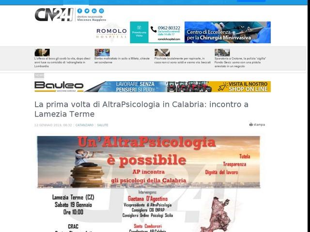 La prima volta di AltraPsicologia in Calabria: incontro a Lamezia Terme