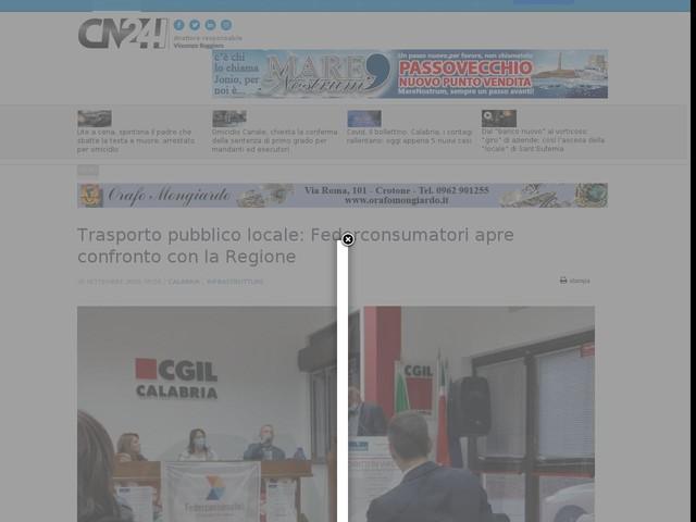 Trasporto pubblico locale: Federconsumatori apre confronto con la Regione