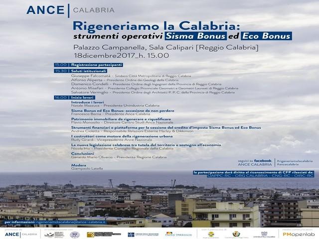 """""""Sisma Bonus ed Eco Bonus"""": domani a Reggio Calabria il convegno Ance"""