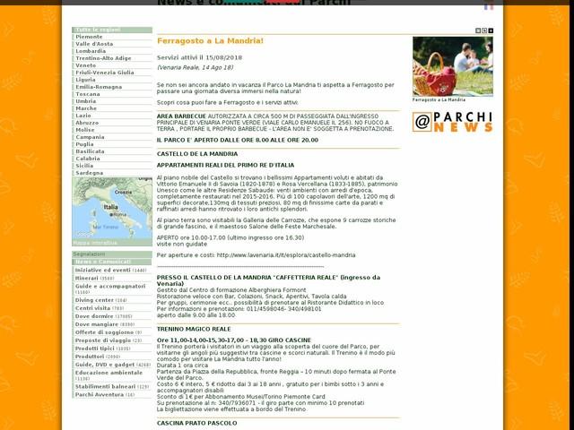 Ente di gestione delle aree protette dei Parchi Reali - Ferragosto a La Mandria!